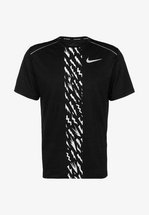 MILER - T-shirt imprimé - black/white