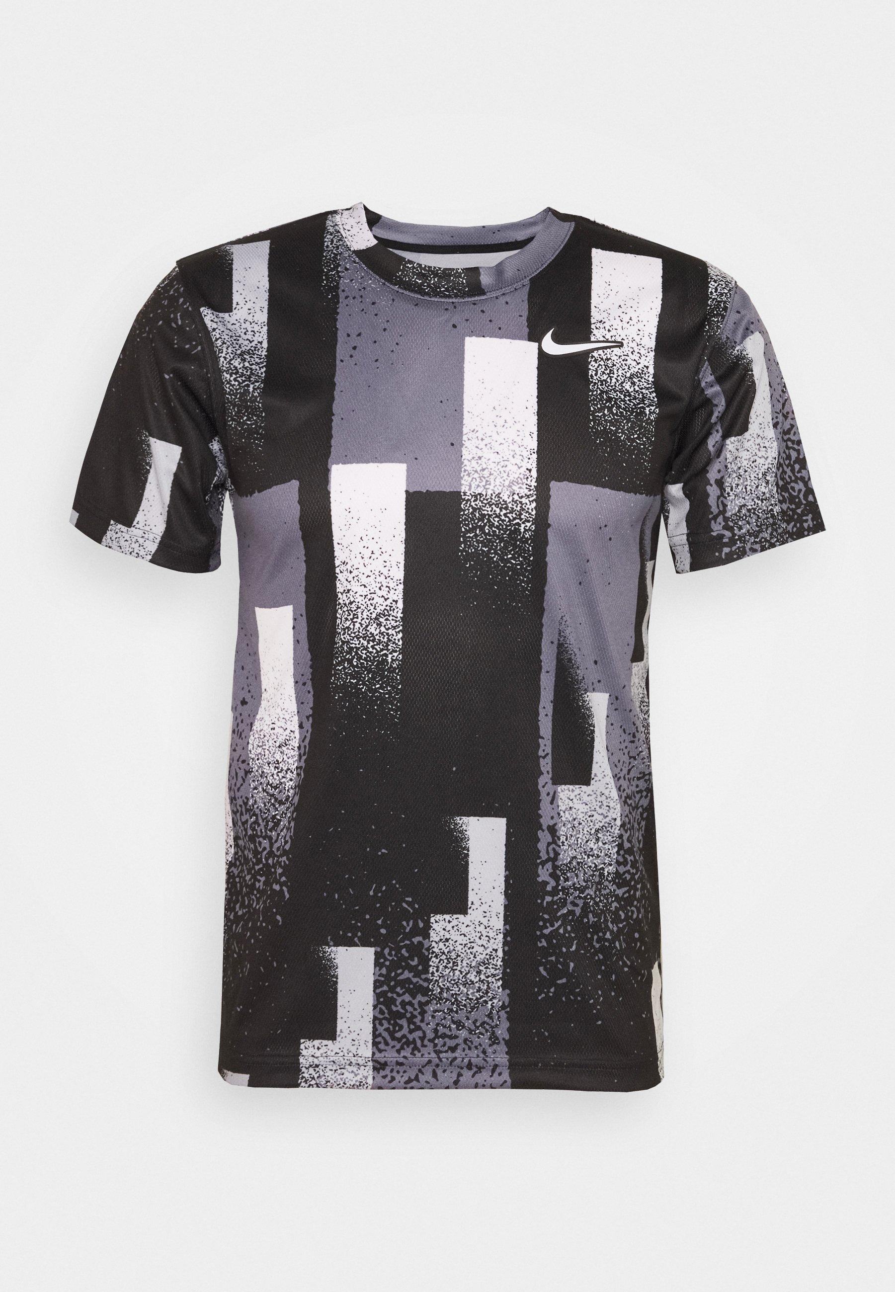 DRY TOP PRINT T shirt imprimé blackwhite