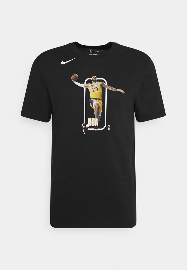 NBA LA LAKERS LEBRON JAMES PLAYER LOGO TEE - T-shirts print - black