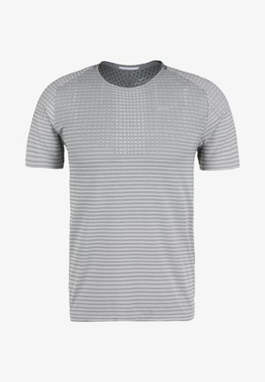 TECHKNIT ULTRA LAUFSHIRT HERREN - Camiseta estampada - smoke grey/light smoke grey/reflective silver