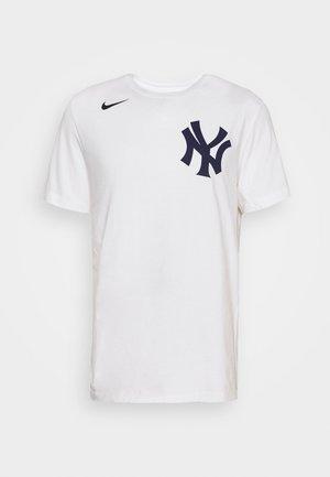 MLB NEW YORK YANKEES WORDMARK - Triko spotiskem - white