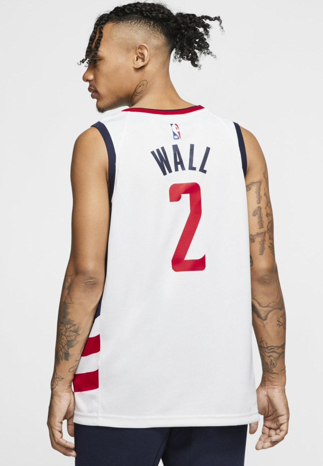 Nike Performance John Wall Wizards - Linne White