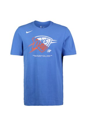 NBA OKLAHOMA CITY THUNDER DRY LOGO T-SHIRT HERREN - Print T-shirt - signal blue