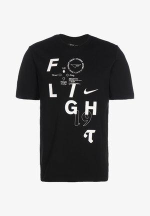 FLIGHT BASKETBALLSHIRT HERREN - T-Shirt print - black/white