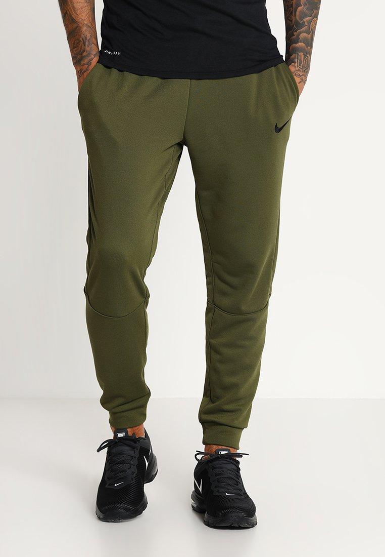 Nike Performance - DRY TAPERED PANT - Pantaloni sportivi - olive canvas/black