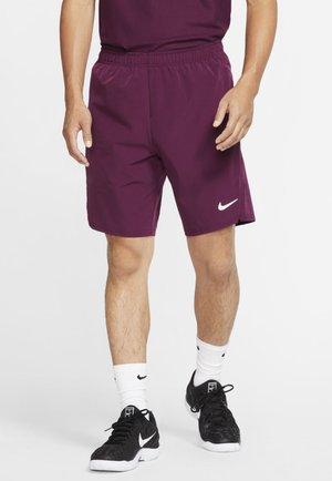 ACE SHORT - Sports shorts - bordeaux/white