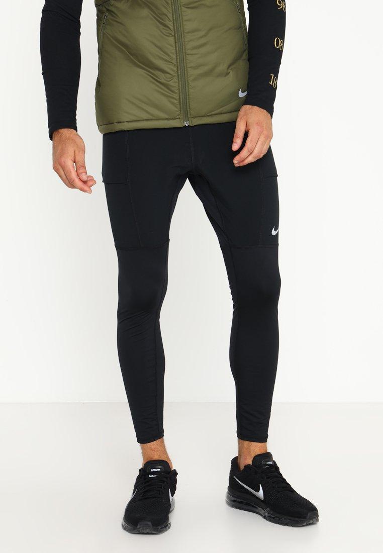 Nike Performance - UTILITY PANT - Legging - black/reflective silver