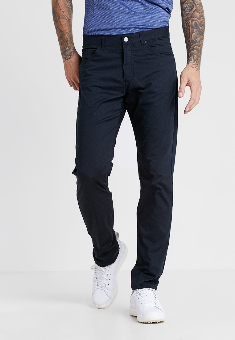 Nike Golf - FLEX PANT SLIM 5 POCKET - Outdoor trousers - black/wolf grey