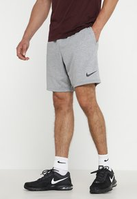 Nike Performance - DRY SHORT  - Träningsshorts - grey heather/black - 0