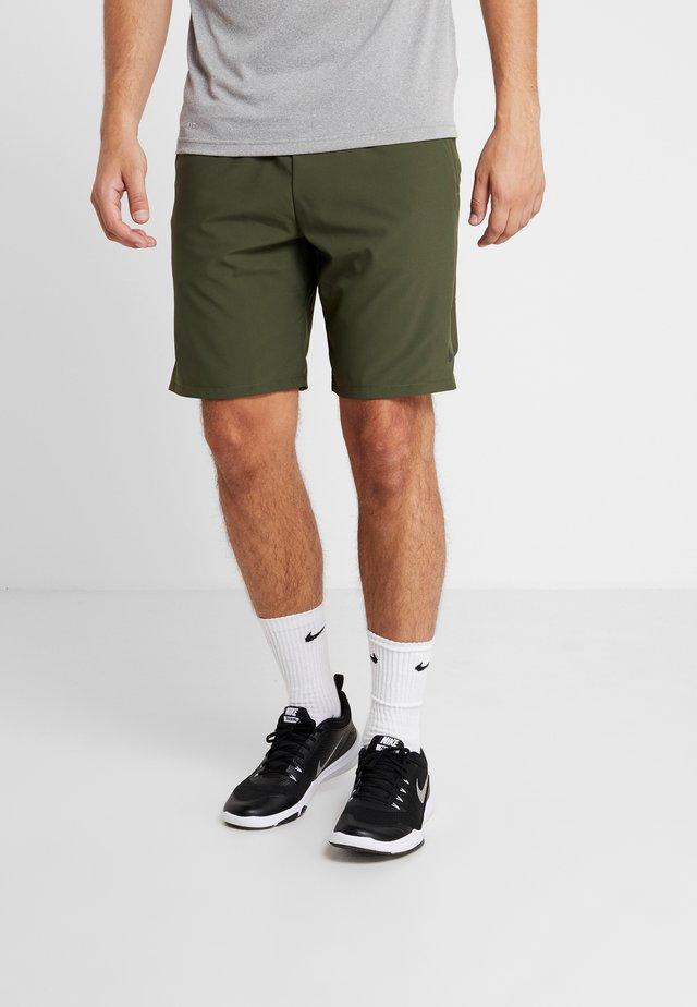 SHORT - Sports shorts - cargo khaki/black