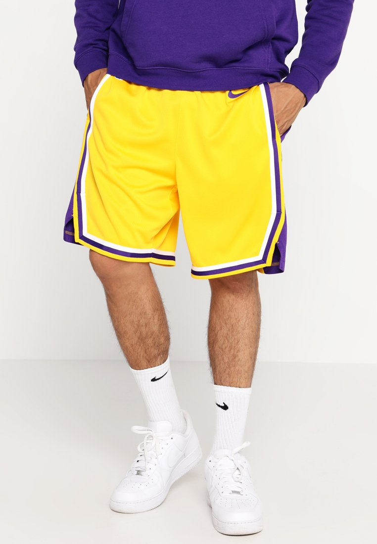 Nike Performance - LA LAKERS NBA SWINGMAN SHORT - Sports shorts - amarillo/field purple/white