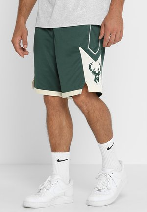 MILWAUKEE BUCKS NBA SWINGMAN SHORT - Krótkie spodenki sportowe - fir/flat opal/opal/white
