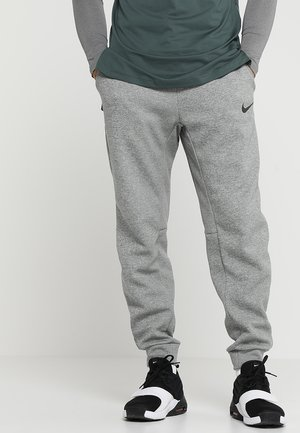 PANT TAPER - Träningsbyxor - dark grey heather/black