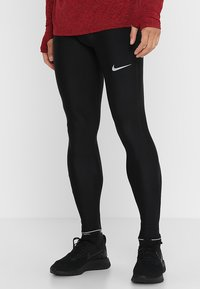 Nike Performance - RUN MOBILITY  - Tights - black/reflective silver - 0