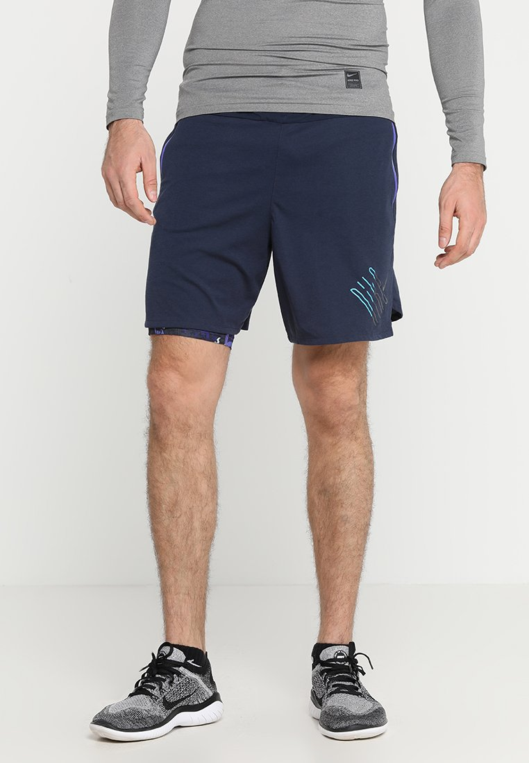 Nike Performance - WILD RUN 2IN1 SHORT - Sports shorts - obsidian/persian violet/black