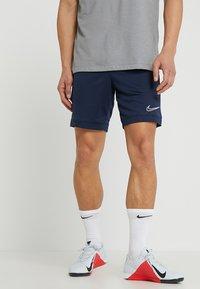Nike Performance - DRY ACADEMY SHORT  - Korte sportsbukser - obsidian/obsidian/white - 0