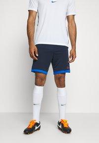 Nike Performance - DRY ACADEMY SHORT  - Krótkie spodenki sportowe - obsidian/soar/laser crimson - 0