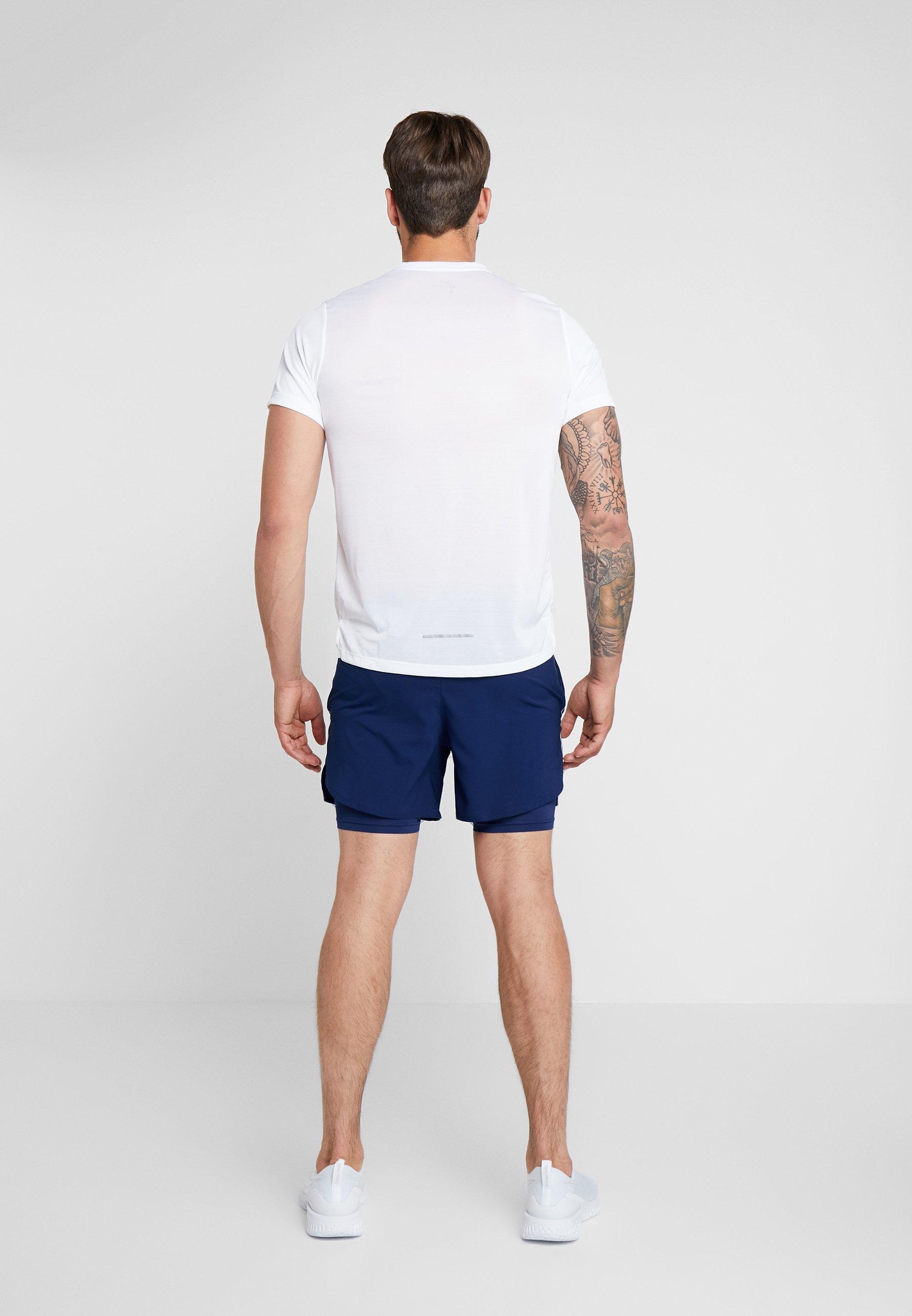 Nike Performance STRIDE SHORT  - Krótkie spodenki sportowe - blue void/blue void/silver