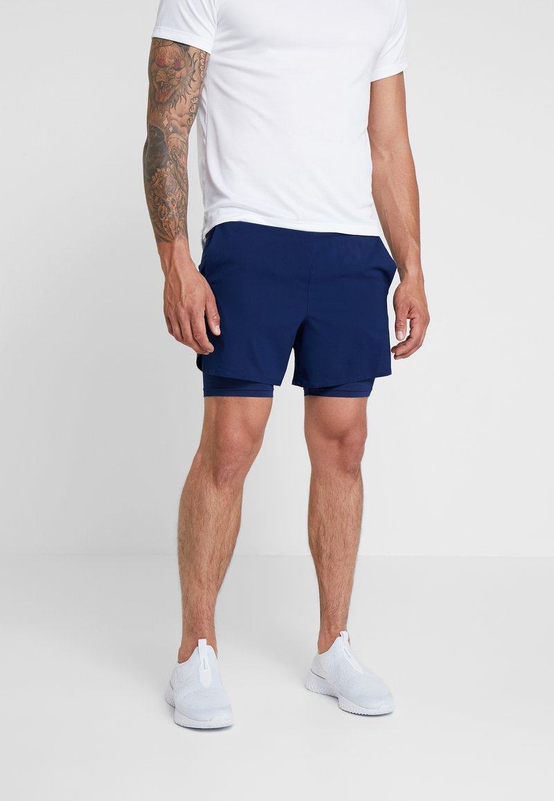 Nike Performance - STRIDE SHORT  - Träningsshorts - blue void/blue void/silver