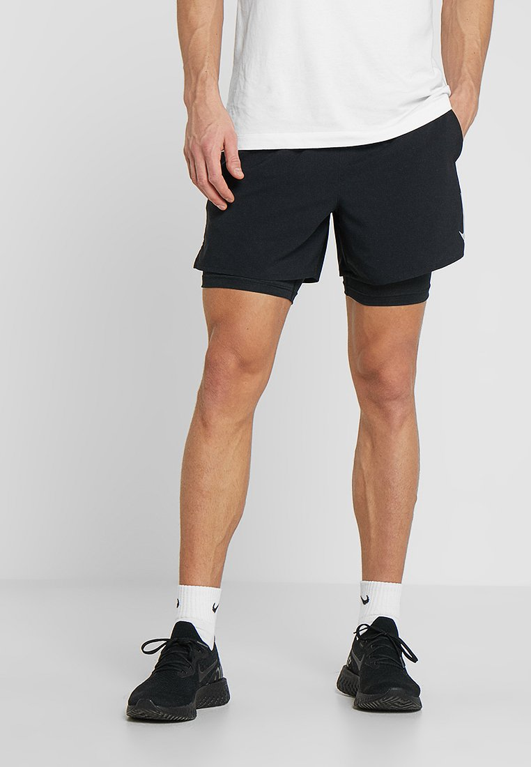 Nike Performance - STRIDE SHORT  - Sports shorts - black/black/reflective silver