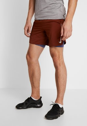 STRIDE SHORT  - Sports shorts - cinnamon/sanded purple/reflective silver