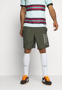 Nike Performance - DRY ACADEMY SHORT - Sports shorts - cargo khaki/cargo khaki/white - 0