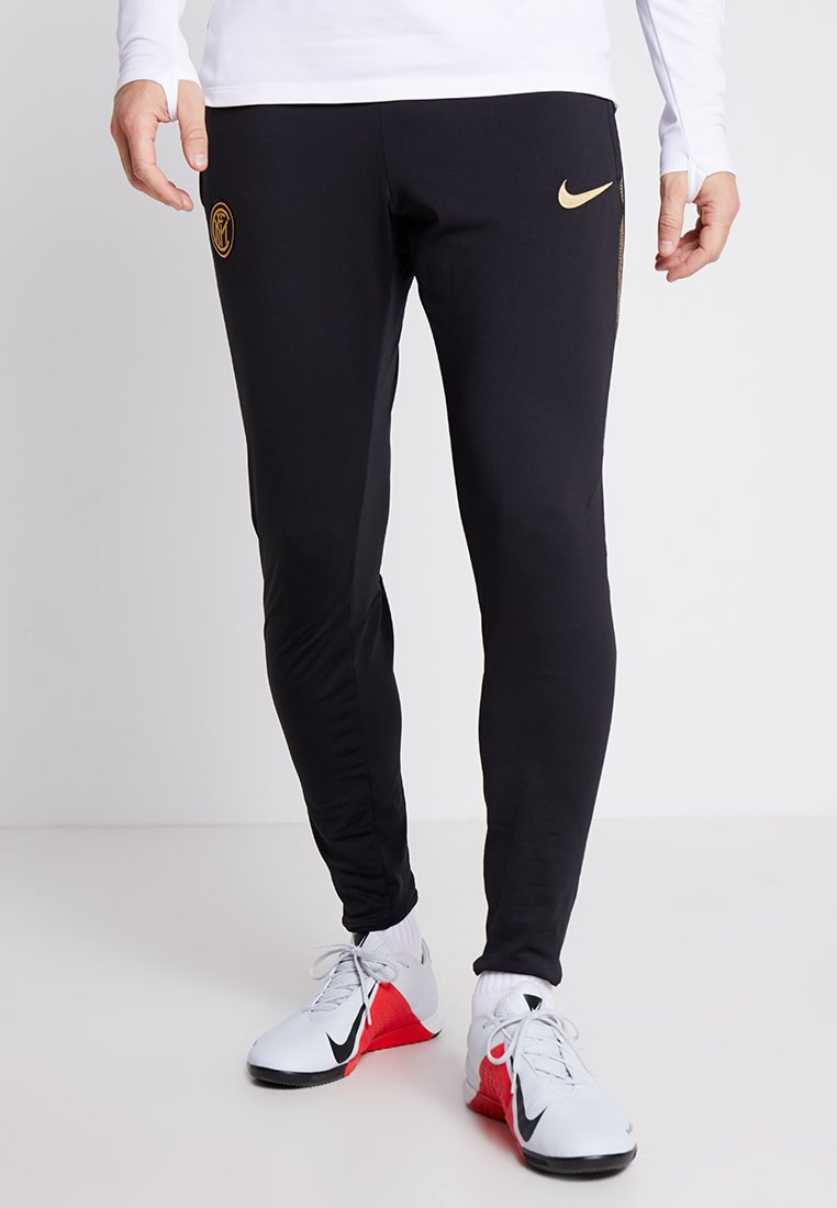 Nike Performance - INTER MAILAND DRY PANT  - Pantalones deportivos - black/truly gold