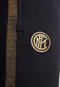 Nike Performance - INTER MAILAND DRY PANT  - Pantalones deportivos - black/truly gold - 5