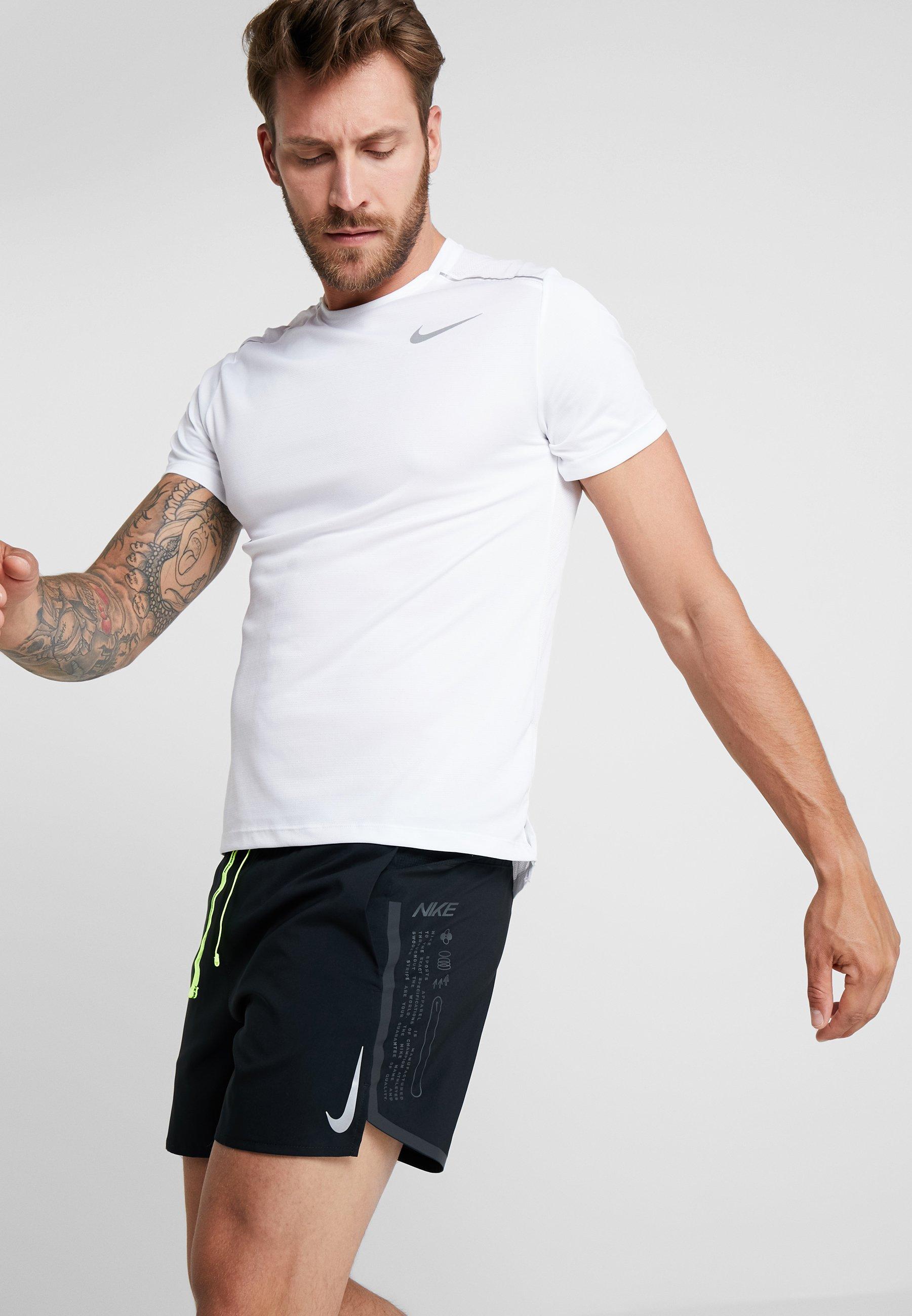 Nike Performance Air Flex Stride - Träningsshorts Black/volt/silver
