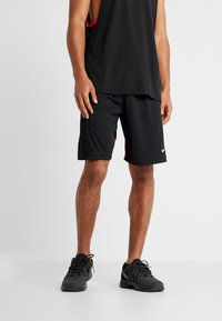 Nike Performance - DRY SHORT HYBRID - Sports shorts - black/habanero red/electric green - 0