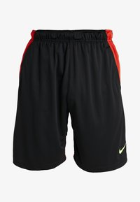 Nike Performance - DRY SHORT HYBRID - Sports shorts - black/habanero red/electric green - 5