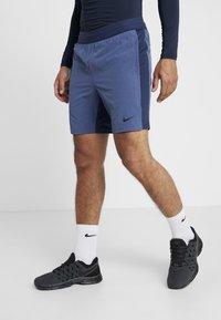 Nike Performance - M NK FLX SHORT YOGA - Short de sport - midnight navy/ocean fog/black - 0