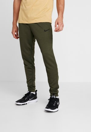 Tracksuit bottoms - cargo khaki/black