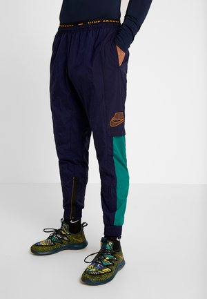 FLEX PANT - Spodnie treningowe - blackened blue/kumquat