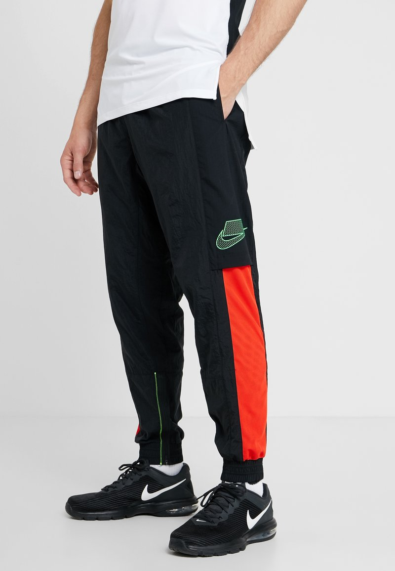 Nike Performance - FLEX PANT - Trainingsbroek - black/sequoia/habanero red/electric green