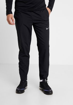 RUN STRIPE PANT - Pantalon de survêtement - black/silver