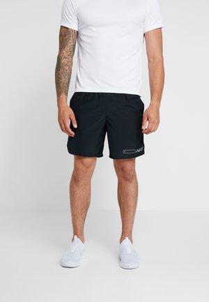 AIR CHALLENGER SHORT - Sports shorts - black/reflective silver
