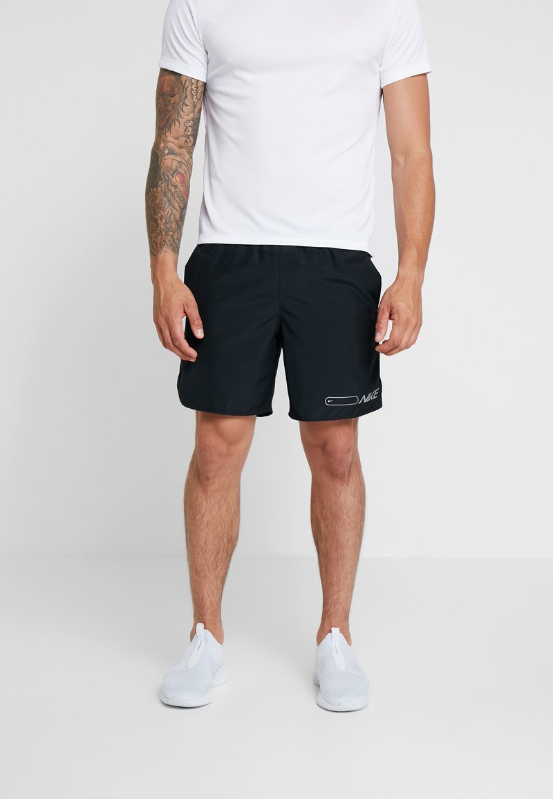 Nike Performance - AIR CHALLENGER SHORT - Sports shorts - black/reflective silver