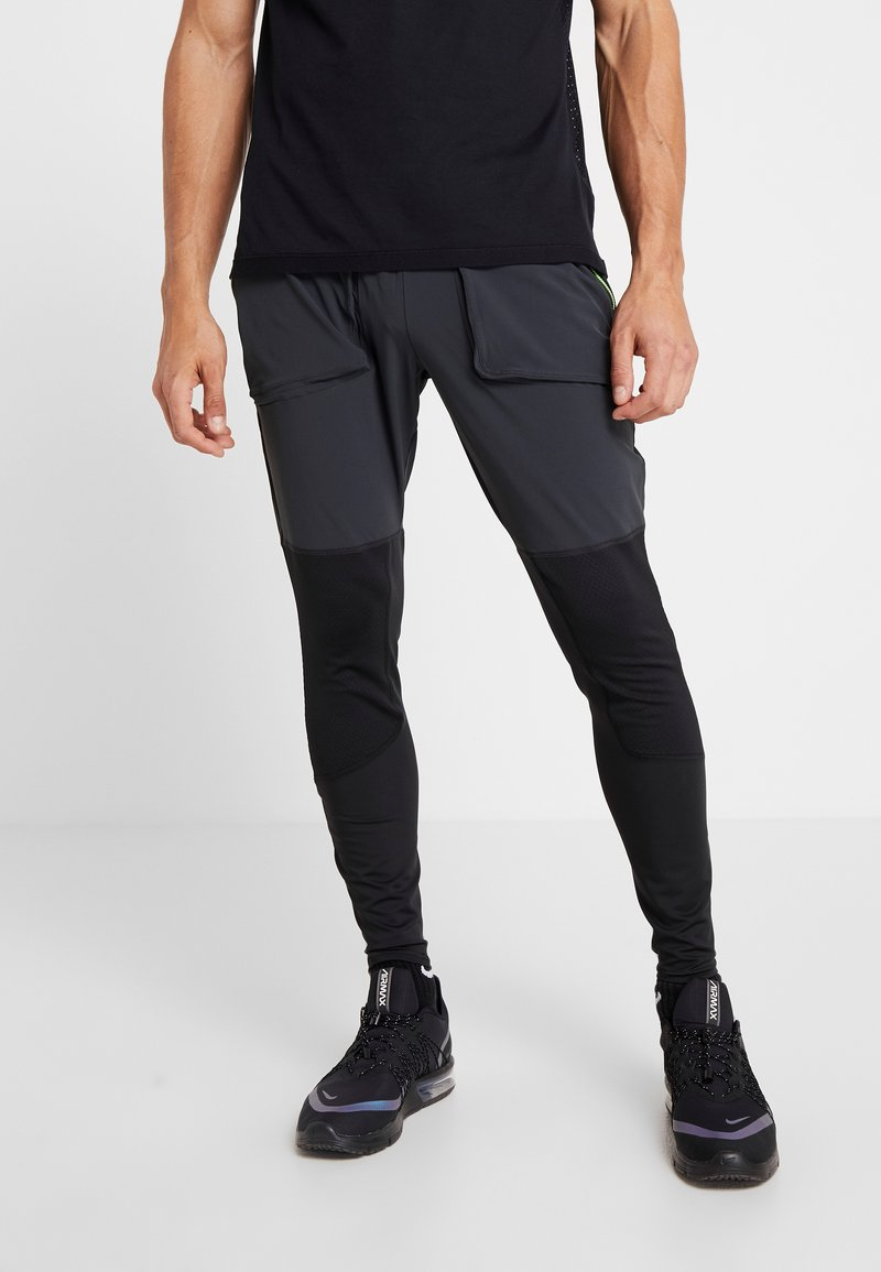 Nike Performance - WILD RUN HYBRID PANT - Joggebukse - black/off noir/habanero red