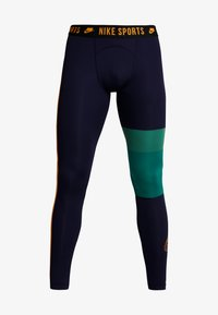 Nike Performance - Legginsy - blackened blue/mystic green/kumquat - 5