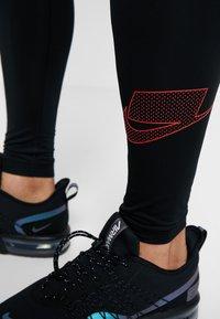 Nike Performance - Leggings - black/game royal/electric green/habanero red - 3