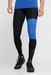 Nike Performance - Leggings - black/game royal/electric green/habanero red - 0