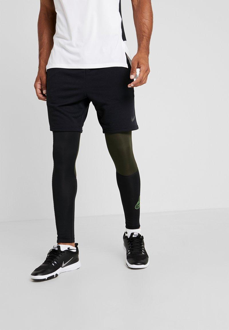 Nike Performance - Punčochy - black/sequoia/scream green