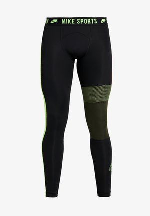 Leggings - black/sequoia/scream green