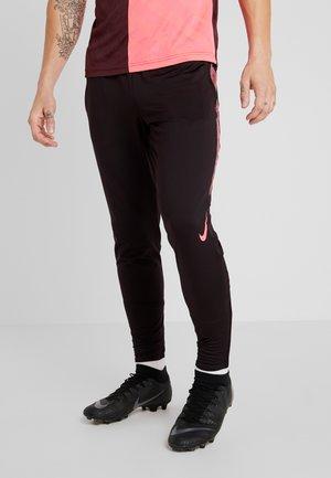 DRY STRIKE PANT - Pantalones deportivos - burgundy ash/racer pink