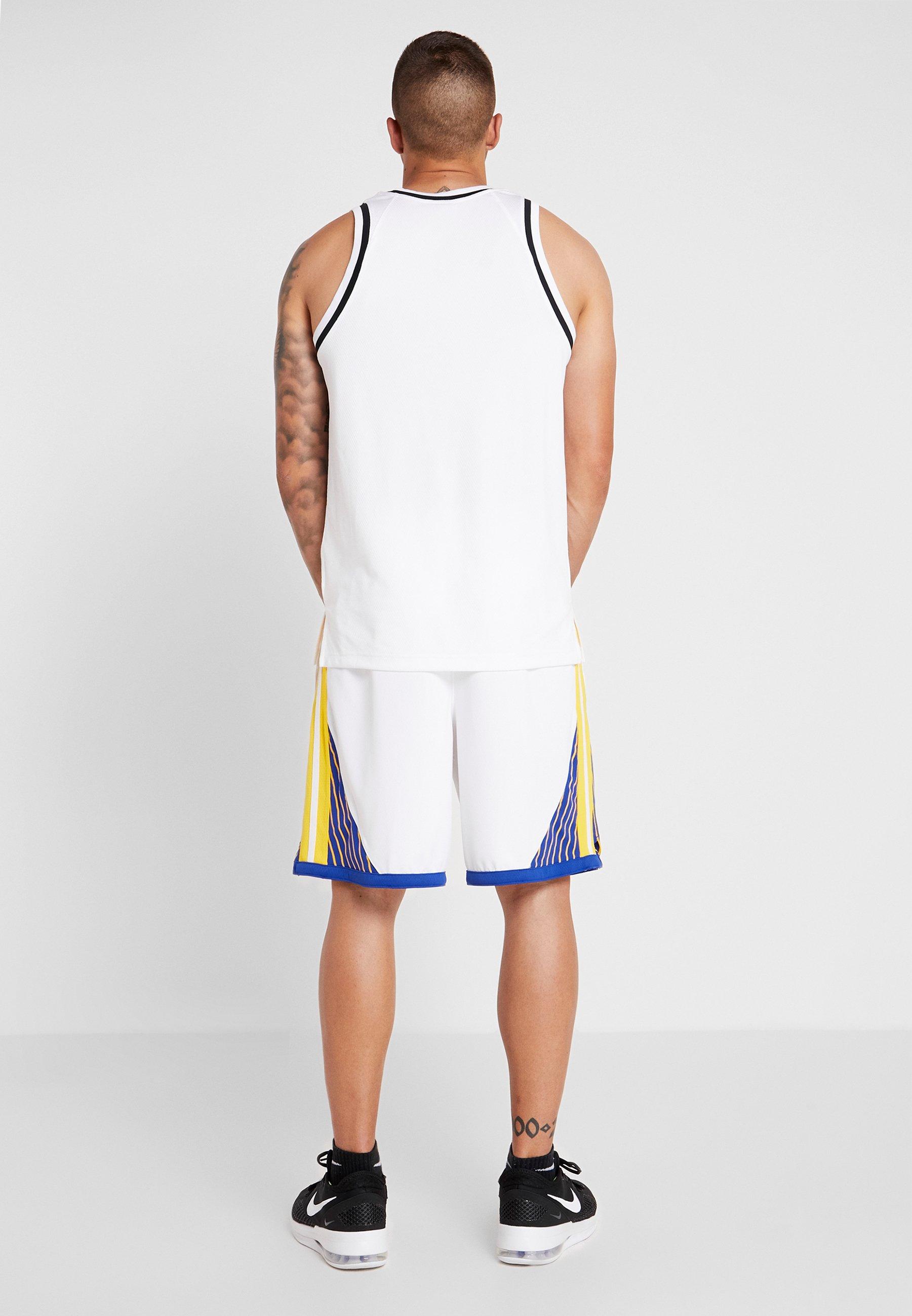 Nike Performance NBA GOLDEN STATE WARRIORS SWINGMAN SHORT - Short de sport white/amarillo/rush blue