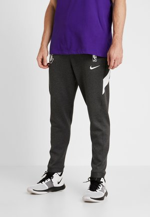 NBA LA LAKERS THERMAFLEX PANT - Artykuły klubowe - black heather/anthracite/white