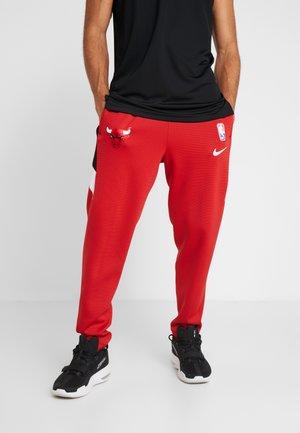 NBA CHICAGO BULLS THERMAFLEX PANT - Teplákové kalhoty - university red/black/white