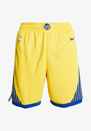 NBA GOLDEN STATE WARRIORS STATEMENT SHORT - Krótkie spodenki sportowe - amarillo/white/rush blue