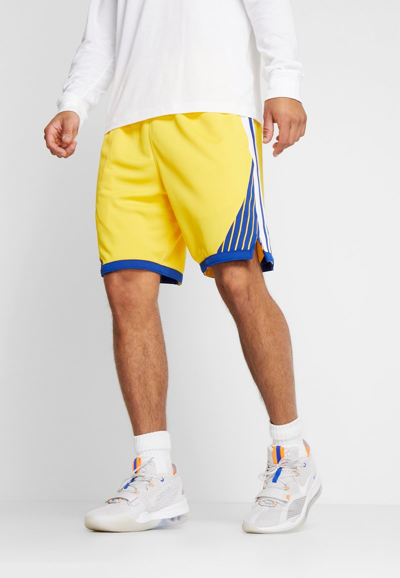 Nike Performance - NBA GOLDEN STATE WARRIORS STATEMENT SHORT - Sports shorts - amarillo/white/rush blue